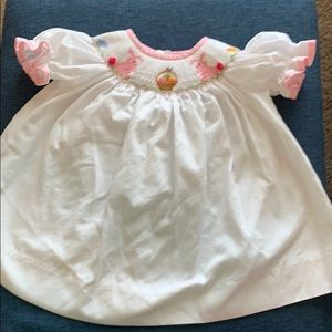 Sweet 6m Easter dress with smocking detail